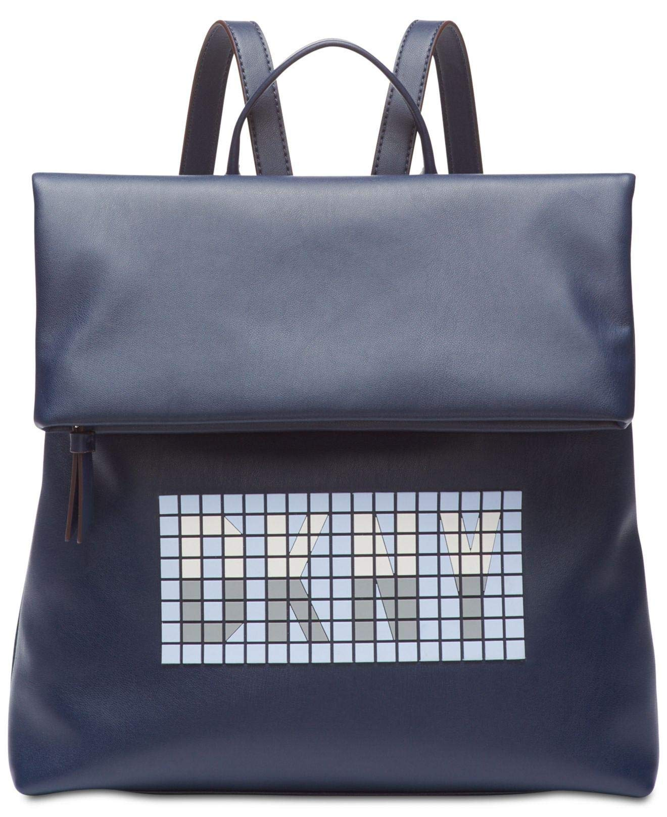 DKNY Tilly Tile Small Backpack Navy (Blue) by DKNY