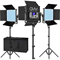 GVM RGB Video Lights with APP Control, 50W Full Color Studio Video Lighting Kit, Led Video Lights for YouTube…
