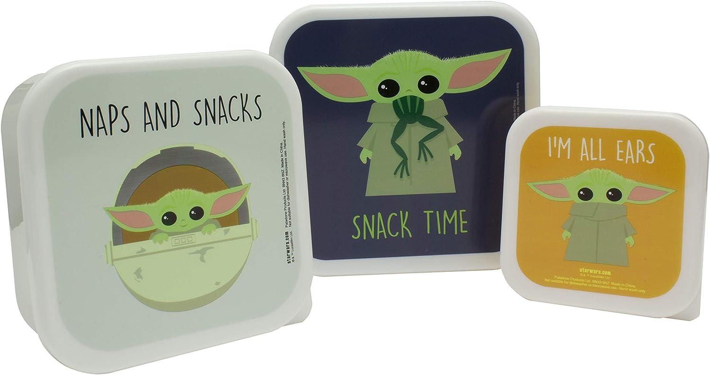 Paladone- Set de 3 fiambreras Baby Yoda, The Mandalorian (PP7365MAN)