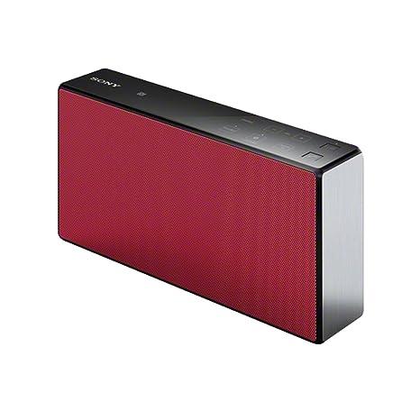 Sony SRS-X5 - Altavoz portátil inalámbrico (Bluetooth y NFC), rojo