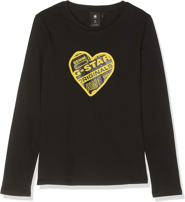 G-STAR RAW Girls Sp10596 Ls Tee Longsleeve T-Shirt