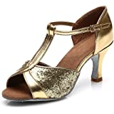 JINFENGKAI Women's Latin Salsa Dance Shoes Style 259