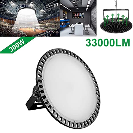 chunnuan 300w slim ufo led high bay light lamp factory warehouse industrial  lighting, 33000 lumen
