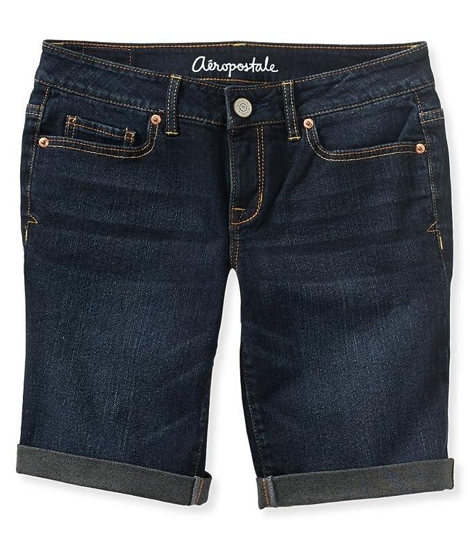 a4975e9ef7 Amazon.com: Aeropostale Women's Bermuda Jean Shorts: Clothing