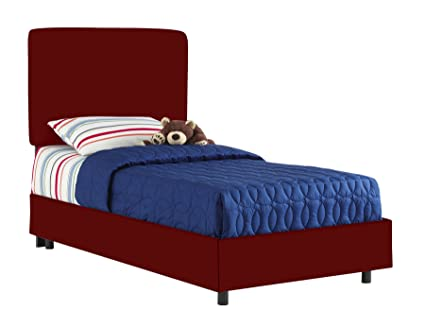 Skyline Furniture Aaronu0027S Full Kids Bed By In Cardinal Red Cotton