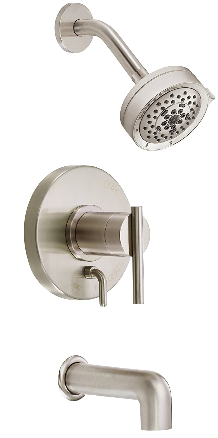 Danze D510058BNT Parma Single Handle Tub and Shower Trim Kit, 2.5 ...