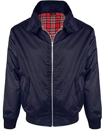 Mens Harrington Jacket Retro Vintage Bomber