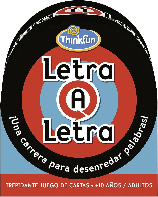 ThinkFun Letra a Letra, Juego de cartas, Edad recomendada 10+ (Ravensburger 76038)