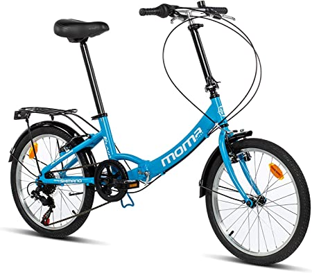 Moma Bikes First Class 2 AZ Bicicleta Plegable Urbana, 6V. Sillin Confort, Unisex Adulto, Azul, Talla Única: Amazon.es: Hogar
