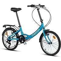 "Moma Bikes Plegable Ruedas 20"" Shimano. Aluminio Bicicleta, Unisex Adulto"