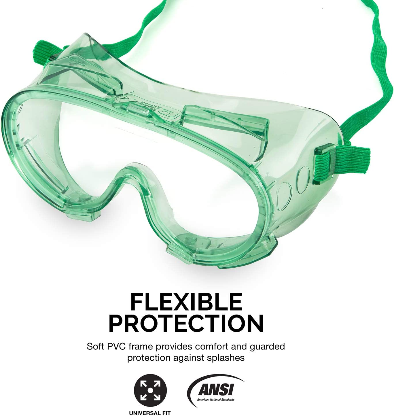 Hyper Tough Splash Goggles glasses perfect protection cover all and sealed