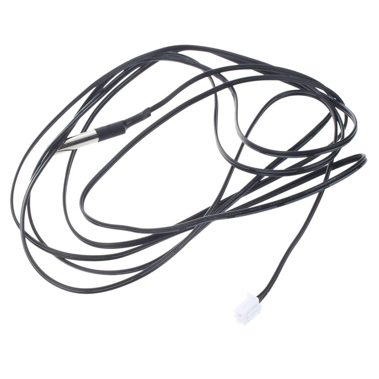 Gaoominy 2M NTC Sensor de temperatura del termistor Cable sonda a prueba de agua 10K 1/% 3950 Negro