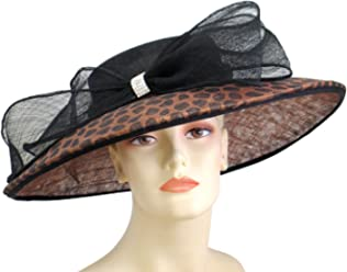 6f154074e8921 Ms Divine Womens Sinamay Wide Brim Kentucky Derby Church Hats Dress Formal  Hats  2301