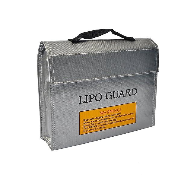 FLOVEME リポーバッテリー防爆バッグ Li-Poバッテリーバッグ セーフティガードバッグ 耐火袋リポバッテリーセーフバッグ 最強防炎 リポバッテリー袋 シルバー