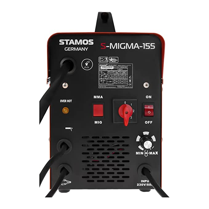 Stamos Germany - S-MIGMA-155 - Máquina de soldar multiproceso - 155 A - 230 V - portátil - Envío Gratuito: Amazon.es: Hogar