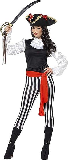 SmiffyS 25561S Disfraz De Pirata Para Mujer Con Camiseta ...