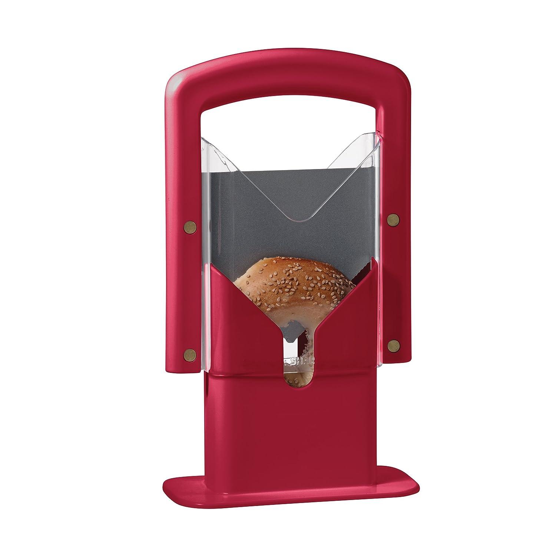 Hoan Bagel Guillotine Slicer, Red, 5193848