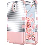 ULAK Galaxy Note 3 Case, Note 3 Case Knox Armor 3 in 1 PC+Silicone Hybrid Dust Scratch Resistance Anti-Slip Cover for Samsung Galaxy Note 3,Note III,N9000,N9005-Minimal Rose Gold