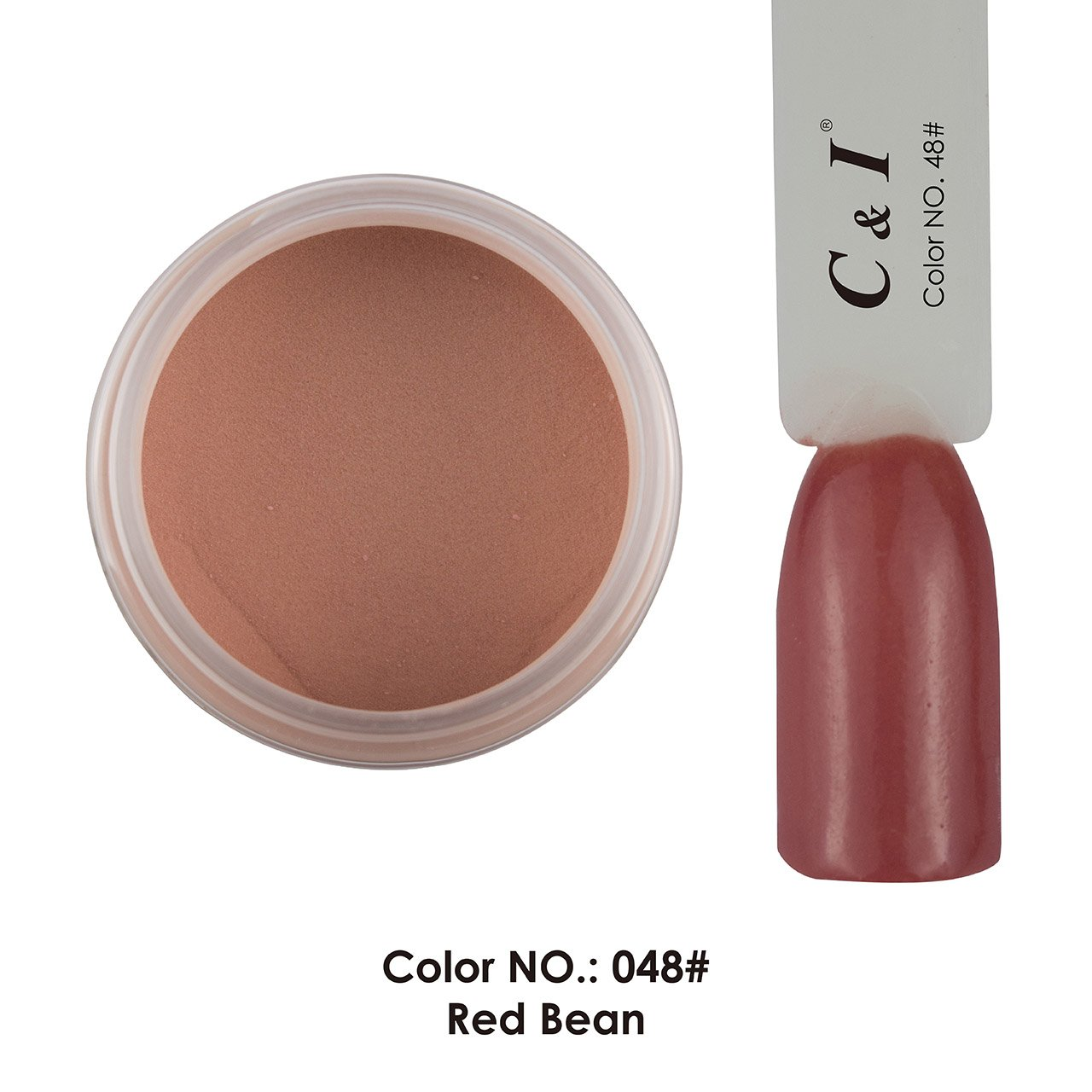 C & I Dipping Powder Color No.048 Red Bean Red Color System Fulei Trading