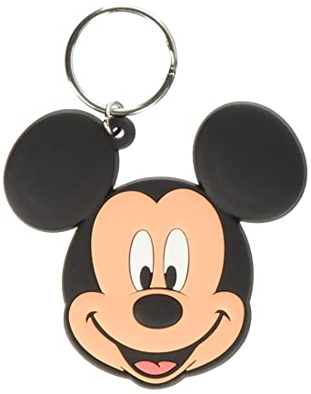 Keychain Disney - Llavero de Goma Mickey Head