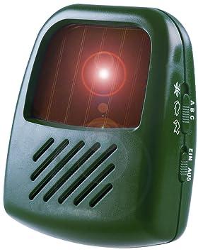 ISOTRONIC Repelente Ultrasónico Solar de Plagas Ahuyentador de Gatos Perros Pájaros y otros animales Antiplagas: Amazon.es: Jardín
