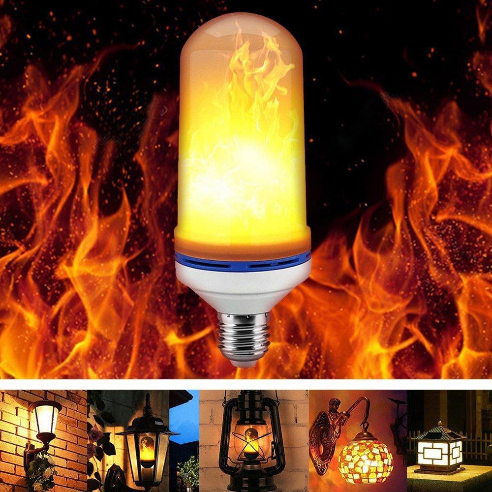 Escomdp Flame LED Light Bulb with 3 Model E26/E27 Base SMD LED Source for Festive Atmosphere Lighting, Common Lighting (1) Yishangtuo