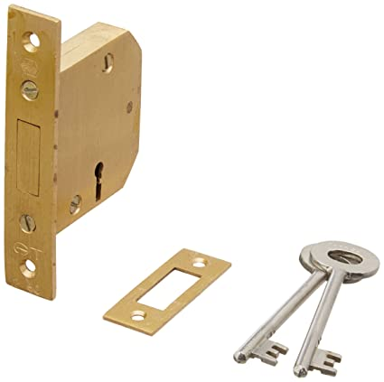 Harrison H-0118 65mm Brass Four Lever Gt Sliding Lock Set (Silver)