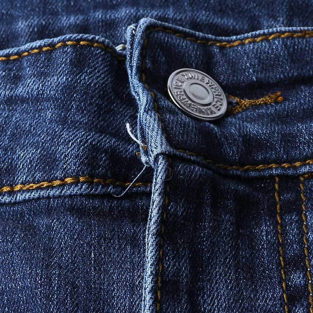 Mens Denim Hole Zipper Multi Pocket Shorts Mens Summer Fashion Denim Shorts