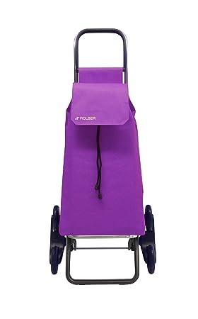 Rolser SAQ006 - Carro de compra (nylon, plegable, 47.5 x 40 x 107 cm, 43 L, 6 ruedas), color malva: Amazon.es: Hogar