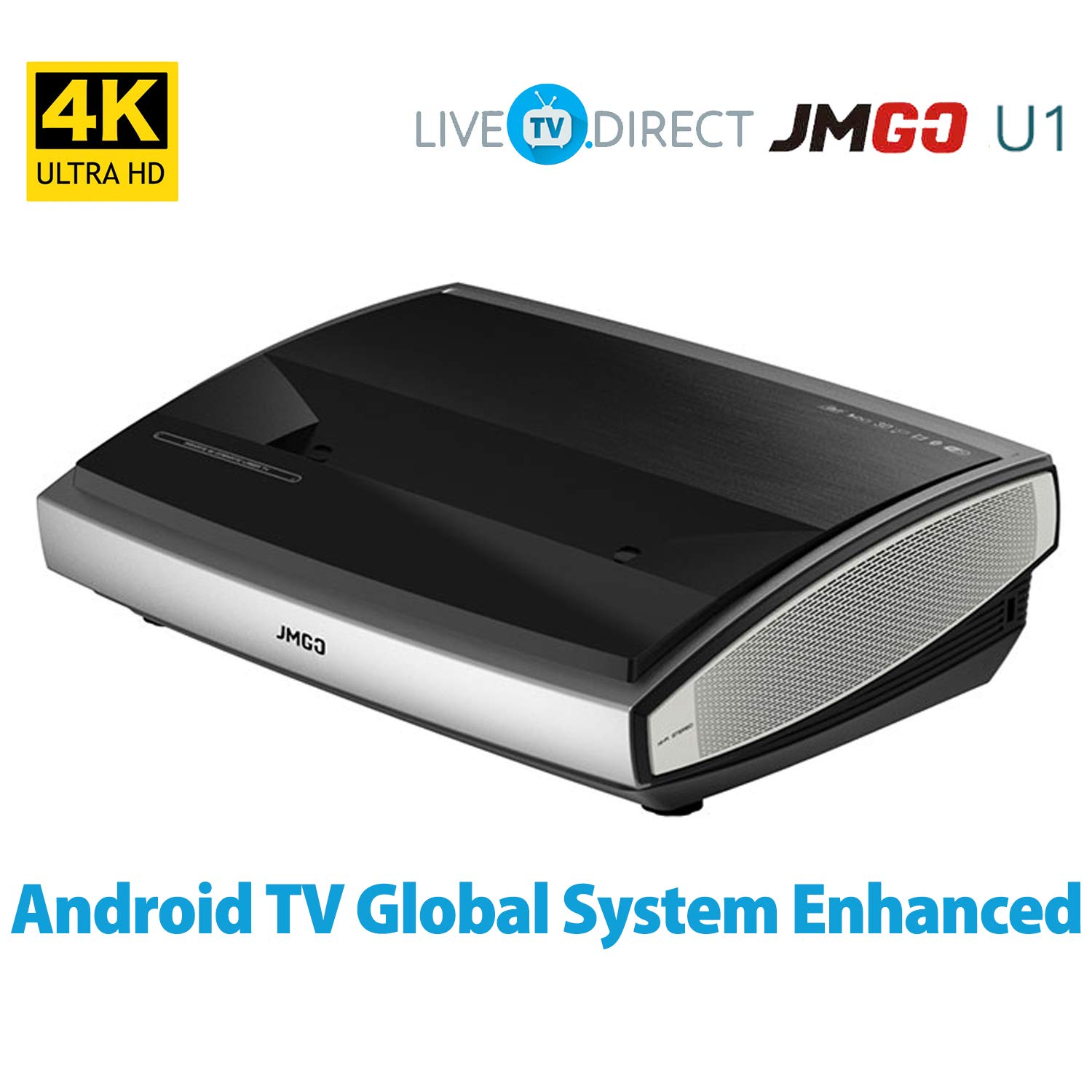 4K Projector, LiveTV.Direct Enhanced JmGO U1 Laser Ultra Short ...