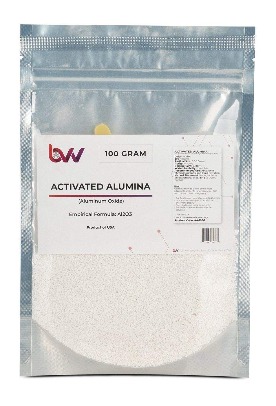 BVV Activated Alumina- 100 Gram Bag by BEST VALUE VACS