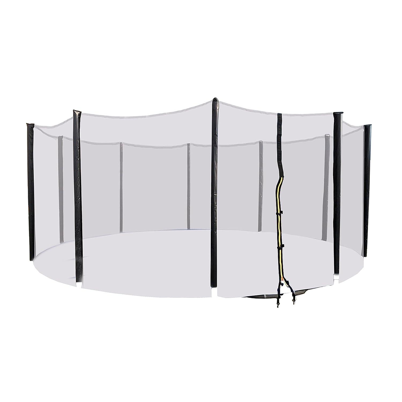 ALEKO TRP16SN Safety Enclosure Net for 16 Feet Trampolines Mesh Netting for 10 Poles Black