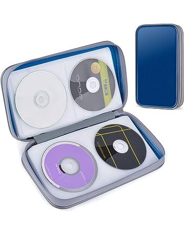 CD Estuche, Tinksky Porta CD para 80 CDs/DVDs Almacenamiento de CD para CD