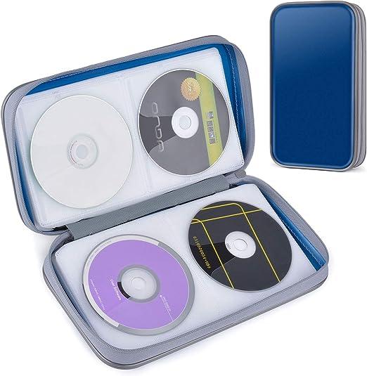 CD Estuche, Tinksky Porta CD para 80 CDs/DVDs Almacenamiento de CD para CD/DVD Protectora: Amazon.es: Juguetes y juegos