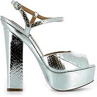 DSQUARED2 Kadın Sandalet Gümüş Deri S17c50612102137