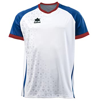 Luanvi Cardiff Camiseta, Unisex Adulto, Blanco y Azul, XS