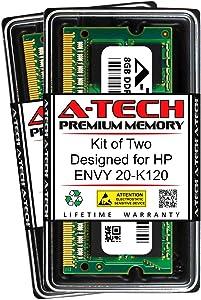 A-Tech 16GB (2 x 8GB) RAM for HP Envy 20-K120 | DDR3 1600MHz SODIMM PC3-12800 204-Pin Non-ECC Memory Upgrade Kit