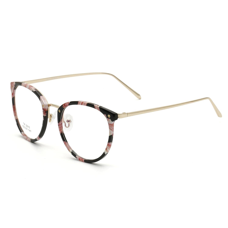 378f1388ce Amazon.com  Simvey Vintage Inspired Eyeglasses Frame Oversized Round Circle  Glasses TR90  Clothing