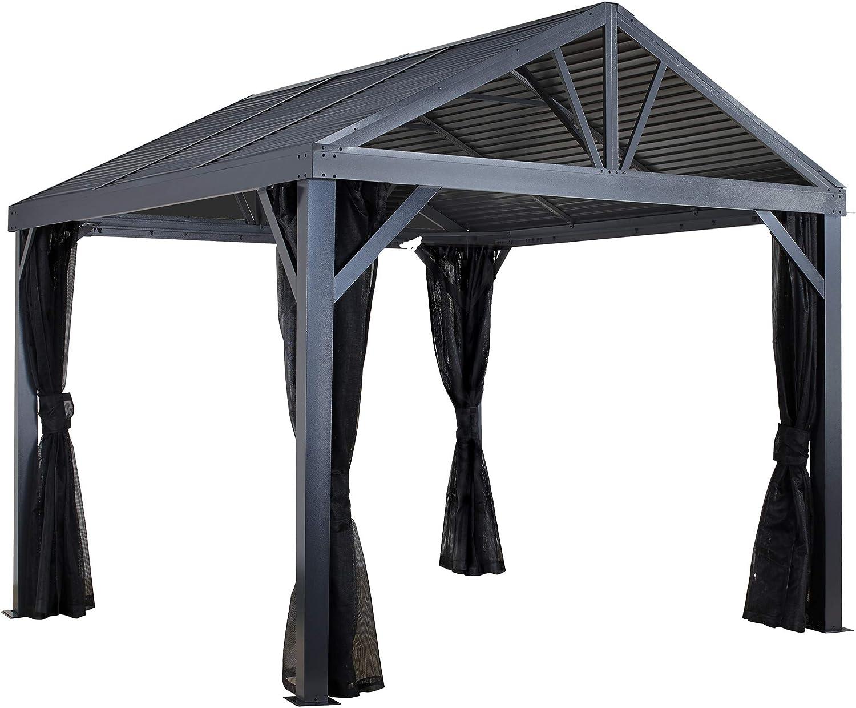 sojag aluminio CarPort de cenador, überdachung y Auto Garage South Beach 12 x 12 Incluye Mosquitera//363 X 363 cm//Jardín überdachung: Amazon.es: Jardín