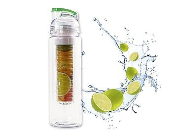 Botella con filtro de Infuser (Einsatz) para aromatisiertes Agua y Deliciosos de frutas y
