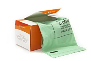 Full Circle Fresh Air Biodegradable Compost Waste Bags, 2.5 Gallon, 25 Count