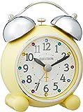 リズム時計 RHYTHM 目覚まし時計 アビスコR479SR 小さい かわいい ベル音 時計 イエロー 4RA479SR33