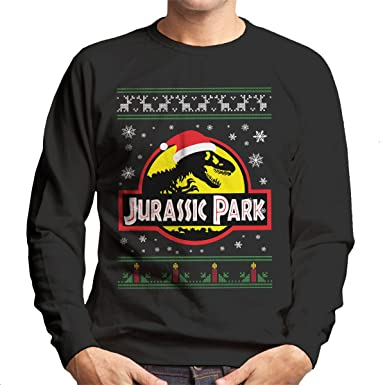 7ec15cbc529 Cloud City 7 Jurassic Park Christmas Knit Men's Sweatshirt