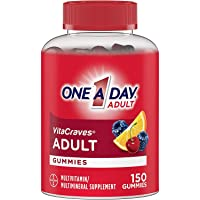 One A Day VitaCraves Adult Multivitamin Gummies, Supplement with Vitamin A, Vitamin C, Vitamin D, Vitamin E and Zinc for Immune Health Support* & more, 150 Count