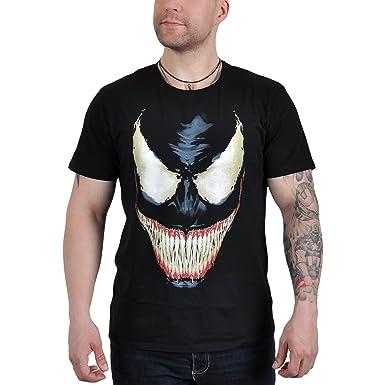 Spider-Man Hombre Araña para Hombre de La Camiseta Venom Sonrisa para Marvel Fans de Los Cómics de Algodón Negro: Amazon.es: Ropa y accesorios