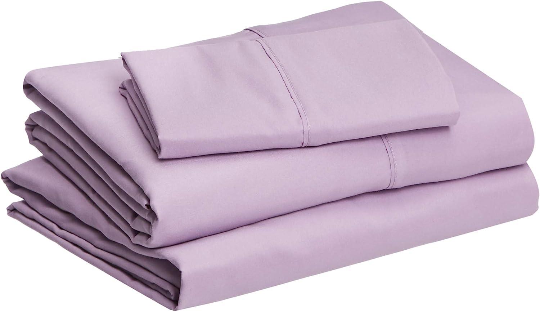 "Basics Lightweight Super Soft Easy Care Microfiber Sheet Set with 16"" Deep Pockets - Queen, Navy Blue: Home & Kitchen"
