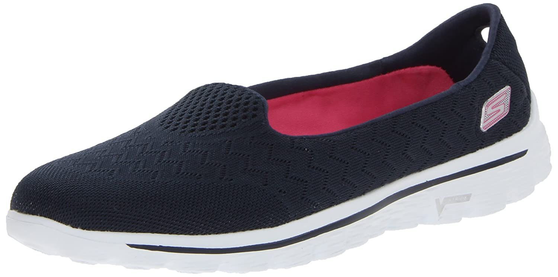 Skechers Performance Women's Go Walk 2-Axis Fashion Sneaker B00E9CC13Y 10 B(M) US|Navy/Pink