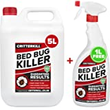 5+1L FREE CritterKill Professional Bed Bug Killer Spray | Guaranteed Results | Used by Professionals