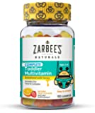 Zarbee's Naturals Toddler Complete Multivitamin Gummies, Natural Fruit Flavors, for Children Ages 2-4, 110 Gummies (1 Bottle) With Essential Vitamins including B-Complex