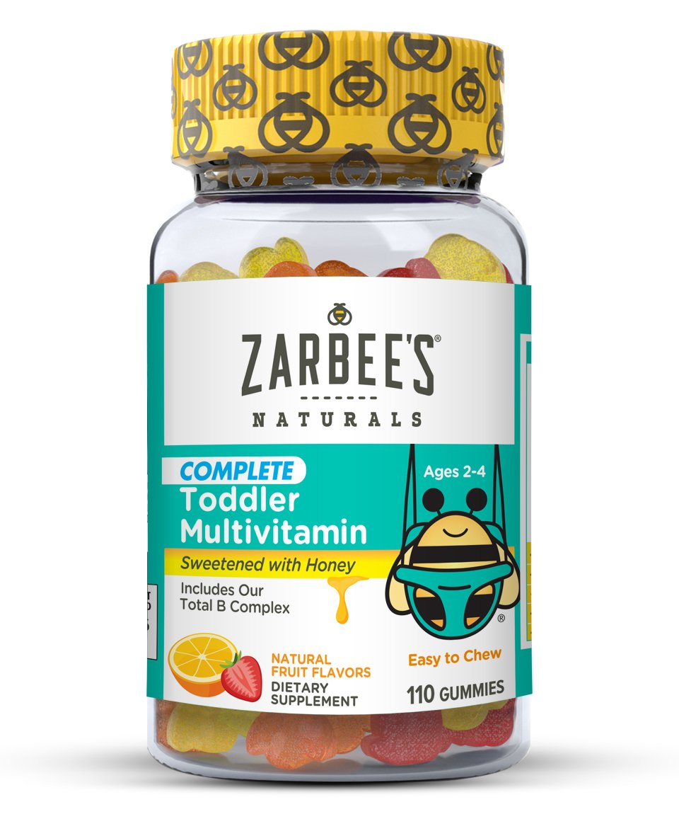 Zarbees Naturals Toddler Complete Multivitamin Gummies, Natural Fruit Flavors, for Children Ages 2-